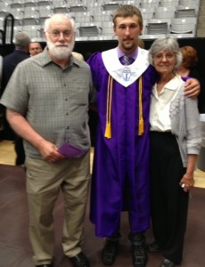 Thanks to his good health, Randall Taylor and his wife, Ellen, were able to travel to Arkansas for the high school graduation of their grandson, Garrett.